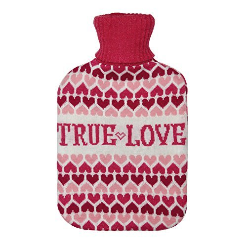 Aroma Home Knitted True Love Hot Water Bottle by Aroma Home