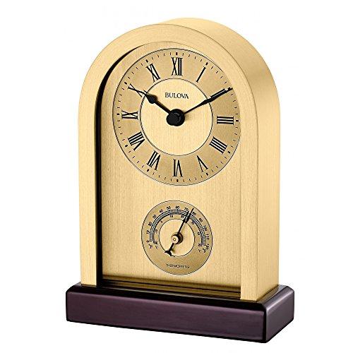 bulova-b5008-harding-brushed-gold-aluminum-case-wooden-base-table-clock
