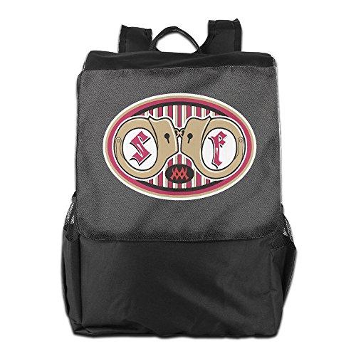Amurder Outdoor San Francisco Football 49ers Travel Backpack Shoulder Rucksack Bag Unisex Black