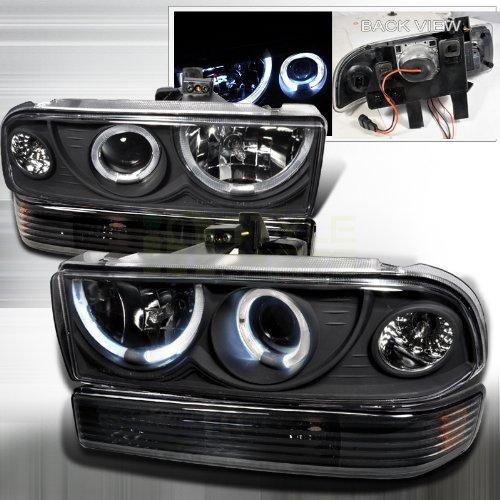 Spec-D Tuning 2LBLHP-S1098JM-RS Black Projector Headlight (Combo With Bumper Light)