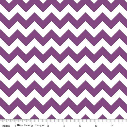 Quilting Fabric - Small Chevron Purple - Riley Blake - Per Yard