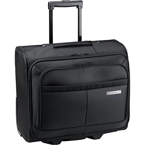 D & N Pilotentrolley Aktentrolley Business Trolley Bag Polyester 41x35x19cm Schwarz 2882 Bowatex
