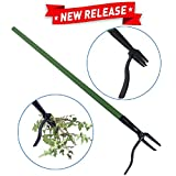 EasyGoProducts Weedinator Tool - Standing Weed Pulling Tool - Weeding Root Puller and Killer - No Bending Down Weeder - Great for: Dandelions and Large and Small Weeds - No Chemicals