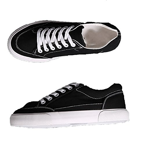Women Sneakers 2018 Fashion lace-up Black/White Women Shoes Solid Sewing Shallow Casual,Black,5