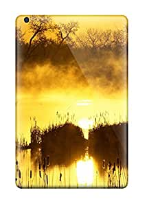 Awesome Scratchresistant Golden Sunrise Flip Cases With Fashion Design For Ipad Mini