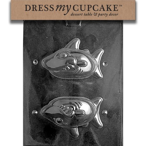 Dress My Cupcake DMCN046 Chocolate Candy Mold, Shark, Nautical
