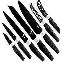 Kitchen Knife Gift Set.- Chef Knife Set - Stainless Steel Kitchen Knife Set by ROCA Home – 8pc Kitchen Knife Set with Non-Stick Blades.