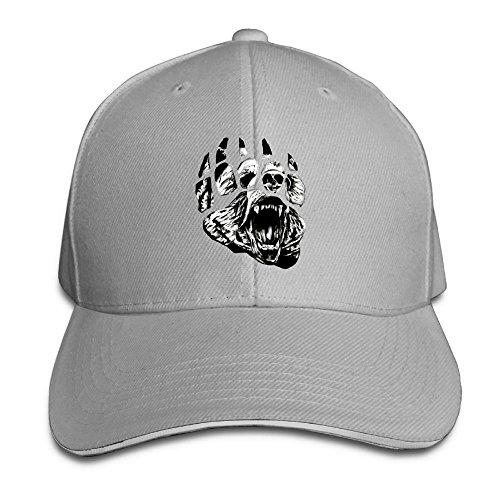 (Unisex Sandwich Cap Black Native American Bear Paw Adjustable Fashion Hip Hop Caps for Women Men)