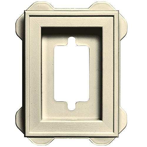 Builders Edge 130130002020 Mounting Block, Heritage Cream