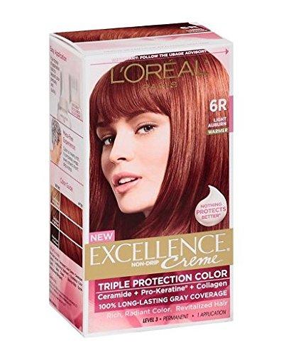 - L'Oréal® Paris Excellence® Creme Triple Protection Permanent Hair Coloring Cream (6R Light Auburn)