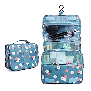 CalorMixs Hanging Toiletry Cosmetics Travel Bag Cosmetic Carry Case for Woman Man Travel Organization Gift