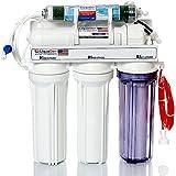LiquaGen 5-Stage Reverse Osmosis/Deionization (RO/DI) - Aquarium Reef Water Filter System, 50 GPD