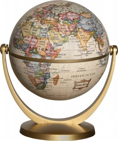 Stellanova Elementary-Middle School Antique Globe, 4 Dia in