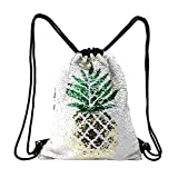 Fandicto Mermaid Sequin Drawstring Bags Unicorn Pineapple Bags for Girls Party Supplies