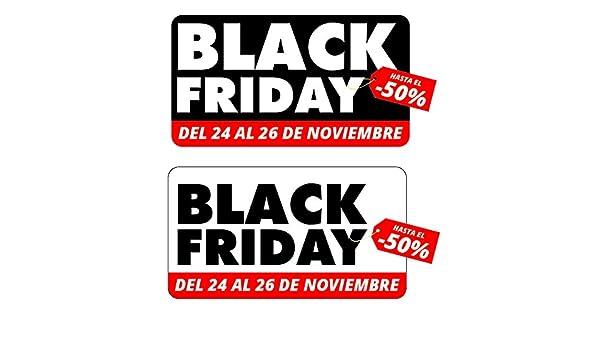 Pack de Vinilo reposicionable de dos Adhesivos Black Friday ...