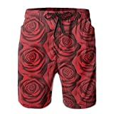 Olorw Red Rose Pattern Hiking
