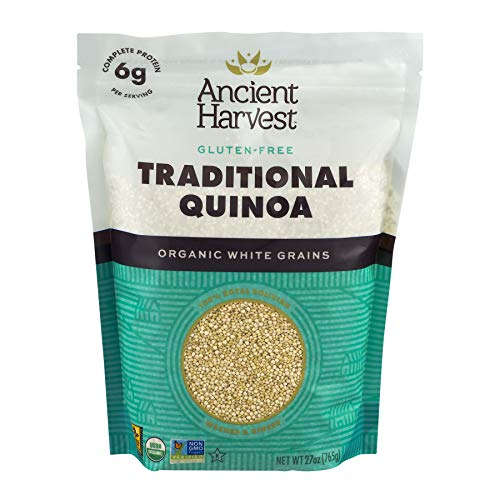 (Ancient Harvest Certified Organic Quinoa, Traditional White, Pre-Rinsed, 27 oz (Pack of 6))