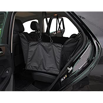 "INNX Dog Seat Cover for Pets, Quilted Hammock Bench Dog Seat Cover for Sedan, Trucks, SUVs or Minivans, Waterproof (Quilted Microfiber Hammock, Black, 60"" Lx56 W)"