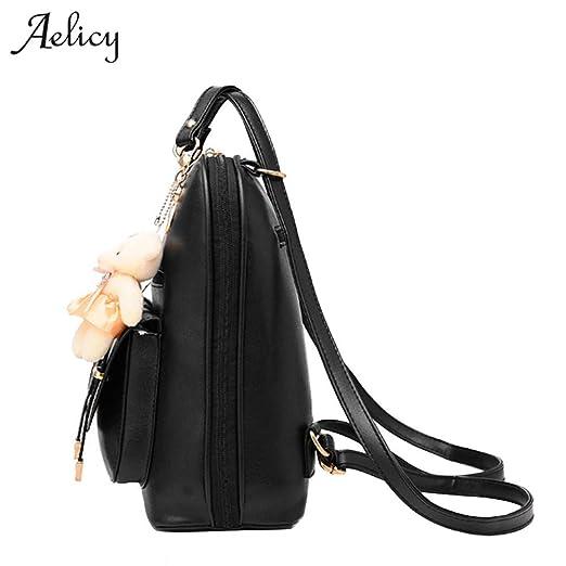 Amazon.com: Fashion Women Backpacks PU Leather Backpack Teenage for Girls Female Mochila: Kitchen & Dining