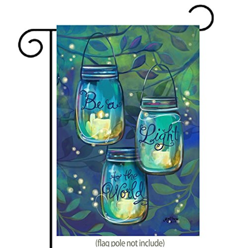 Inspirational Garden Flag Be A Light To The World Candles in Jars | Double-sided, Polyester, Great Design Yard Flag to Brighten Up Your Home 12.5