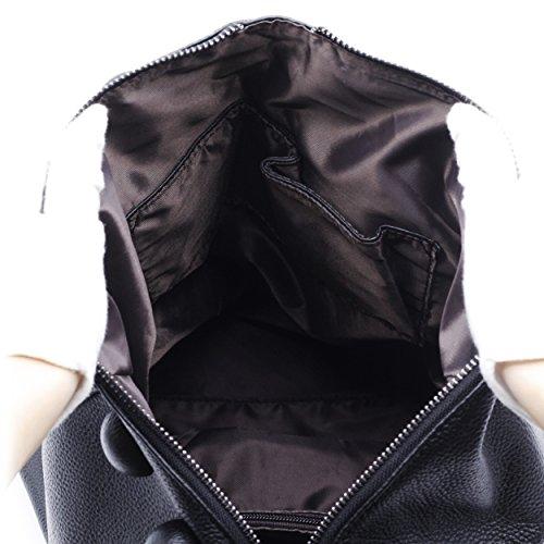 Noir Cuir Sac Femmes à Véritable dos ZENTEII Loisir 8T50qwnx
