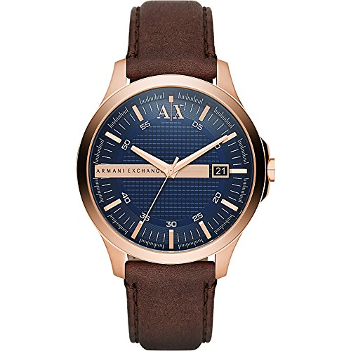 Armani Exchange Men's AX2172 Brown  Leather Watch (E Armani)