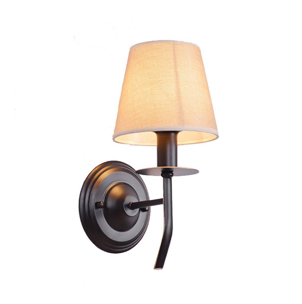 B&D yan Long Home Einzelne Kopf Lampe, Vintage Wandleuchte Flur nachtwandleuchte Tuch Einzigen Kopf Lampe E14 Einstellbares hängen Wandlampe LED-Licht (Farbe   One Pair)