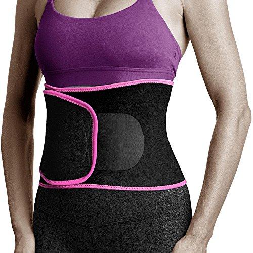 Kobwa - Reductor de Cintura, ajustable para pérdida de peso, espalda baja y soporte lumbar, ejercicio, entrenamiento de...