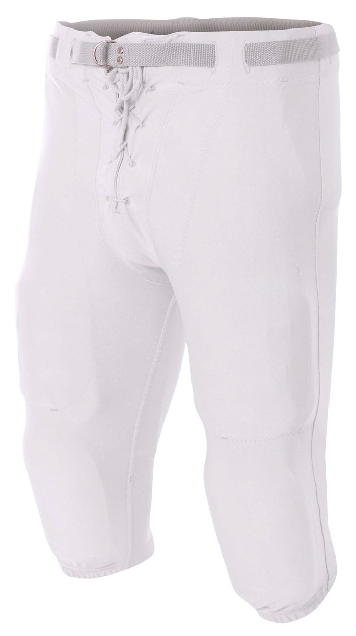 A4 NB6141-WHT Game Pants, X-Small, White
