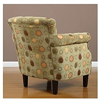 Tiburon Grasshopper Upholstered Contemporary Accent Green Arm Chair