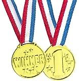 Fun Express Gold Tone Winner Award Medals - 12 Pieces