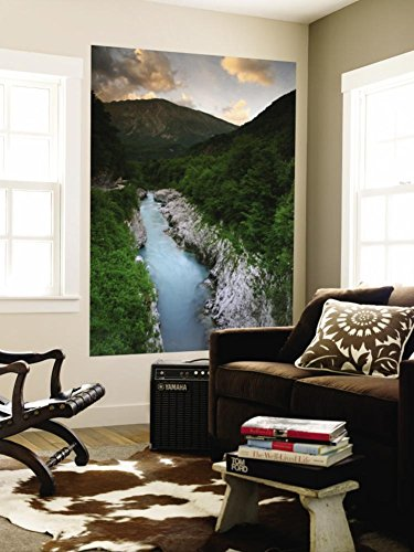 Soca River and Limestone Gorge from Napoleon Bridge Wall Mural by Ruth Eastham & Max Paoli 48 x 72in