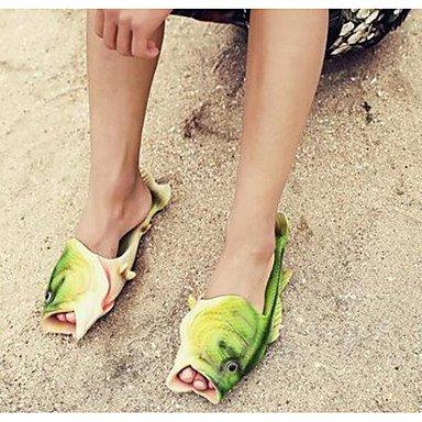 Heart&M Mujer Zapatillas y flip-flop Confort PVC Verano Casual Confort Verde Plano