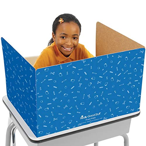 (Really Good Stuff Privacy Shields for Student's Desks - Keeps Their Eyes on Their Own Test/Assignments (Matte (12 Shields),)