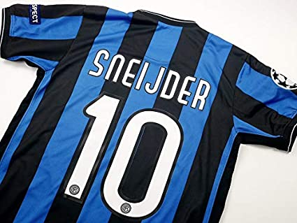 detailed look 3a354 d44f4 Amazon.com : Retro Sneijder#10 Inter Milan Match Detail ...