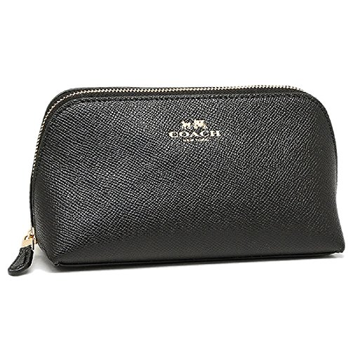 Coach Cosmetic Case Black Make Up Case F57857, Small