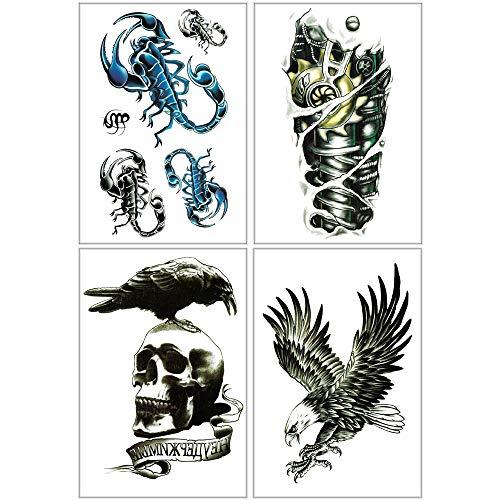 Amazon.com: Tatuajes temporales realistas para hombres ...
