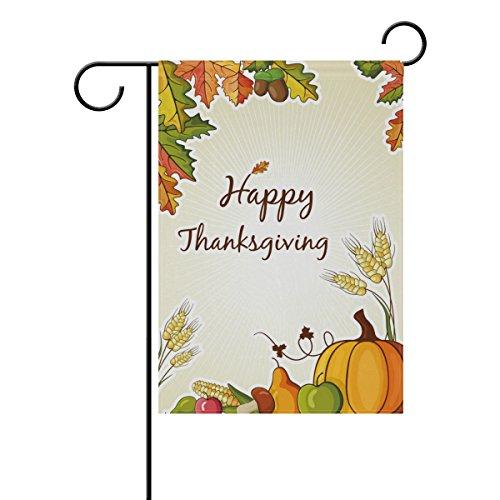 Top Carpenter Happy Thanksgiving With Pumpkin Autumn Leaves Decorative Garden Flag 28'' x 40''