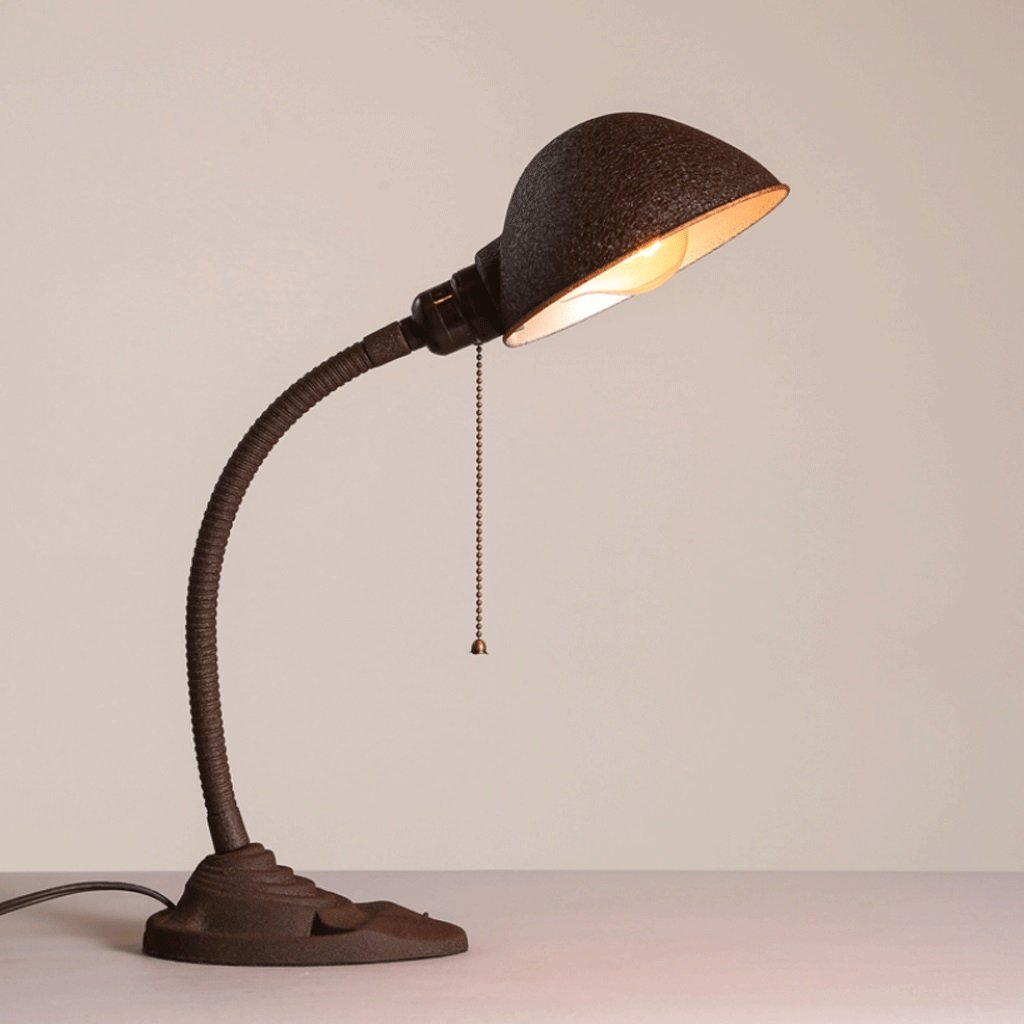 CHX Table Lamp Vintage Industrial Wind Office Bedroom Iron Art Frosted Desk Reading Table Lamp CHXV