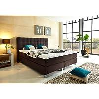 WELCON Luxus Boxspringbett 200x210 H3 inkl. Topper dunkelgrau grau anthrazit - Premiumklasse für 5 Sterne Hotels - günstig direkt vom Importeur