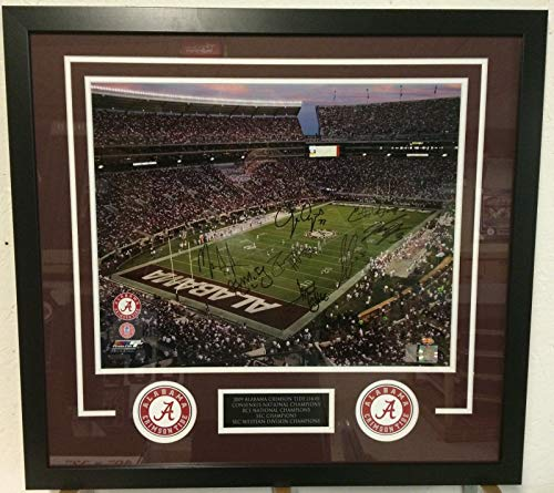 FRAMED 2009 ALABAMA TEAM SIGNED 16x20 PHOTO GTSM COA INGRAM, MCELROY, UPSHAW