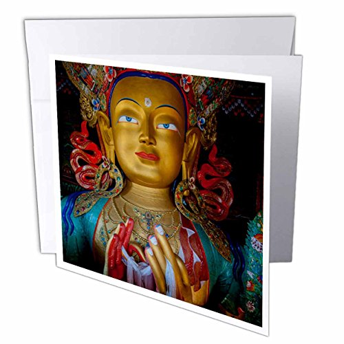 India Jammu and Kashmir Ladakh Buddha Thiksey Monastery- Greeting Cards, 6 x 6 inches, set of 12 (gc_188094_2)