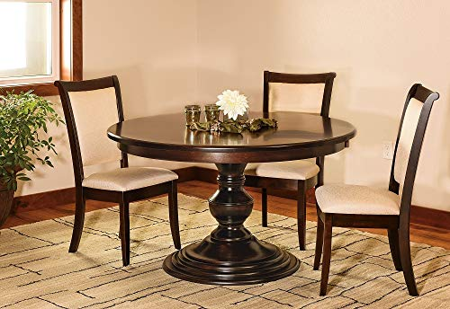 New Hickory Wholesale Amish Kingsley Solid Wood 5-Pc Dining Set, Stained Rich Tobacco (54
