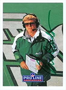 Autograph Warehouse 31911 Bruce Coslet Autographed Football Card New York Jets 1990 Pro Line No. 260