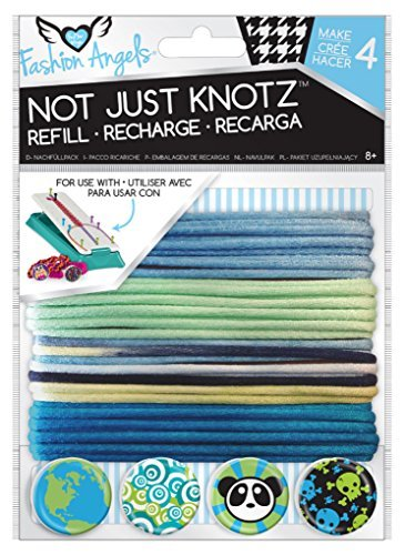 (Fashion Angels Not Just Knotz Refill Pack - Blue and Green by Fashion Angels)