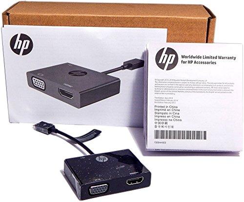 HP K2P81AA Video Adapter, HDMI/VGA, Black ()