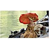 Farewell, My Queen 8inch x10inch Photo Diane Kruger Holding Parasol & Fan Seated on Boat kn