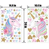 2 Sheets Large Size Unicorn Wall Decor,Removable