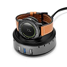 Balerion-Gear S3 and Gear S2 smart watch QI wirless Charger/Charging dock with 3 USB output charging port