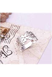 925 S Plated Sweet Flowers Ring/Thumb Ring fashion Jewelry